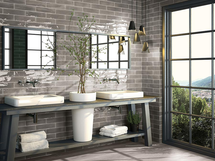 Robert F. Henry Tile Gallery Grey Bathroom Tile