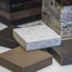 Modern interior kitchen countertops made of granite