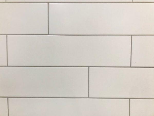 white matte rectangular subway tile